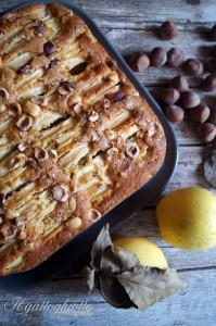 torta con farina di kamut mese e nocciole
